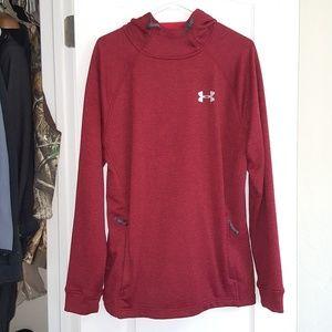 Mens red under armour hoodie